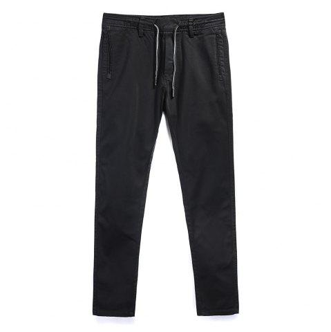 Chic Man Fashion Simple Pure Color Straight Tube Big Code Casual Pants