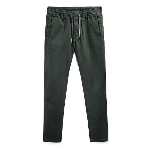Unique Man Fashion Simple Pure Color Straight Tube Big Code Casual Pants