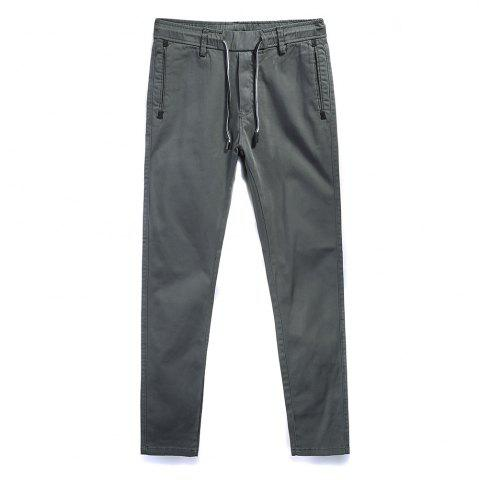 New Man Fashion Simple Pure Color Straight Tube Big Code Casual Pants