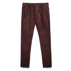 Man Fashion Simple Pur Couleur Droite Tube Big Code Casual Pantalon -
