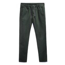 Man Fashion Simple Color Straight Tube Big Code Casual Pants -
