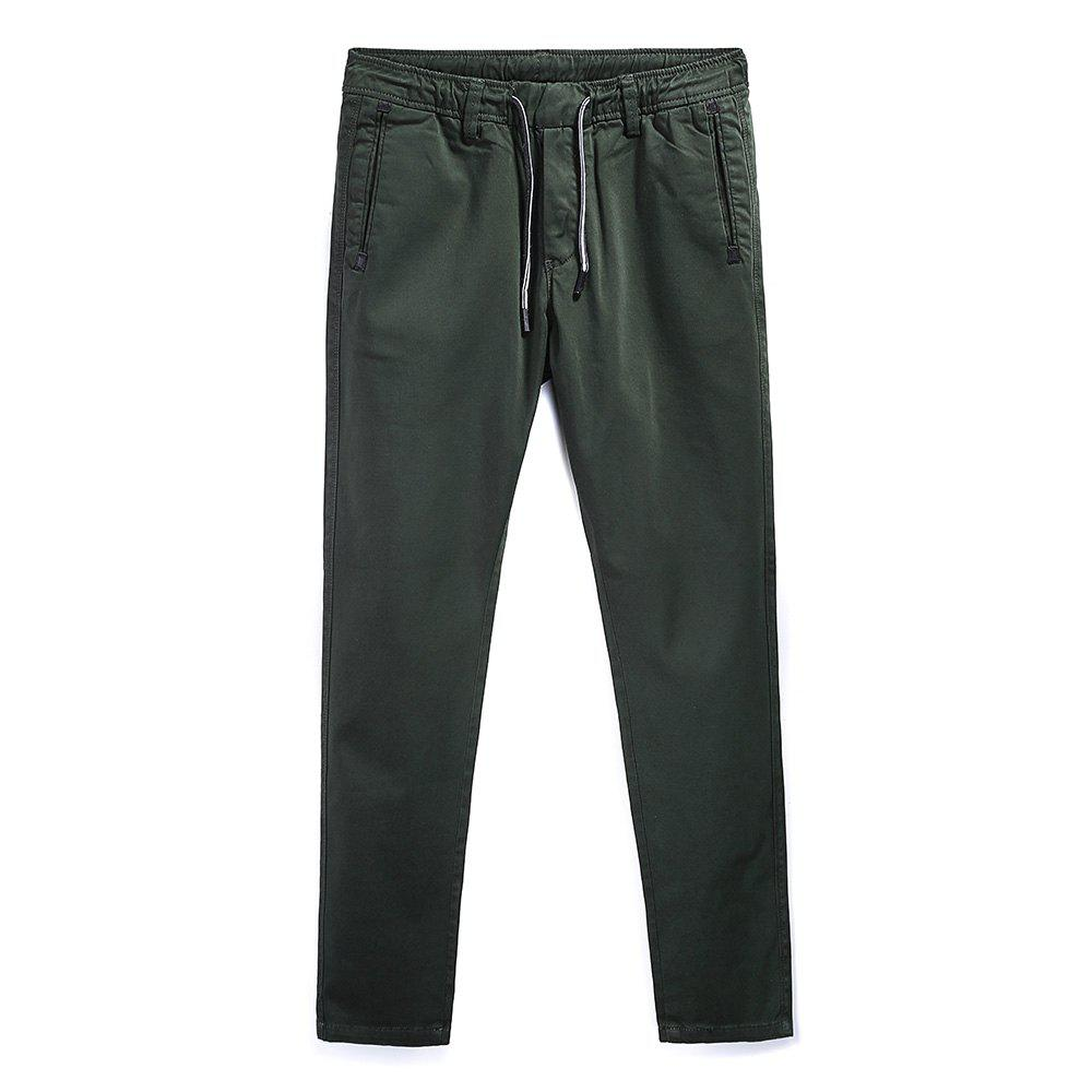 Unique Man Fashion Simple Color Straight Tube Big Code Casual Pants