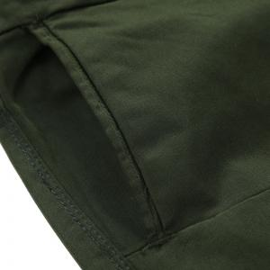 Man Fashion Simple Pure Color Straight Tube Repair Pants -