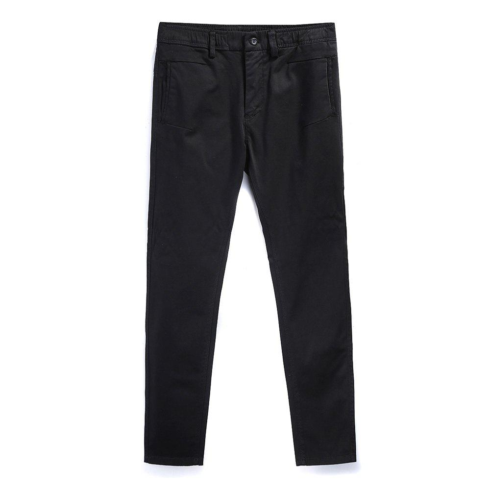 Chic Man Fashion Simple Pure Color Straight Tube Repair Pants
