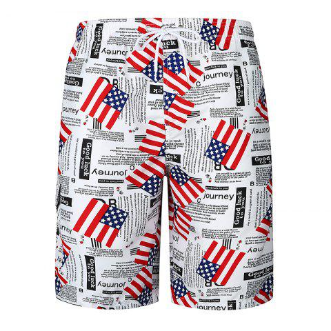Chic National Flag Men's Casual Beach Pants