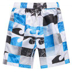 Men's Casual Plaid Beach Pants -