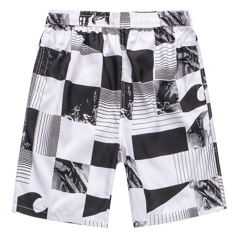Online Men's Casual Plaid Beach Pants