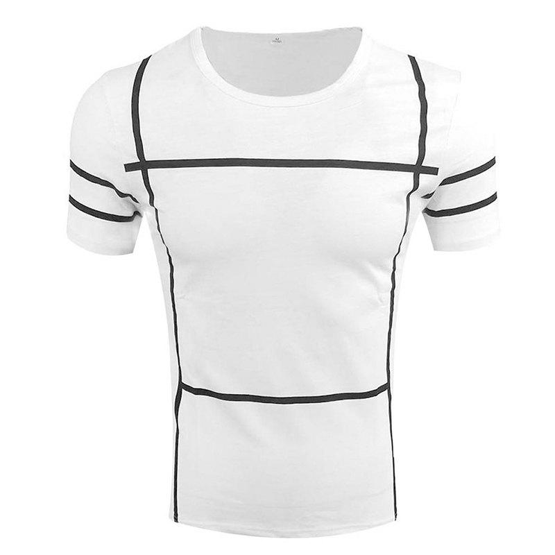 Discount Men's Short Sleeve Round Neck Simple T-shirt