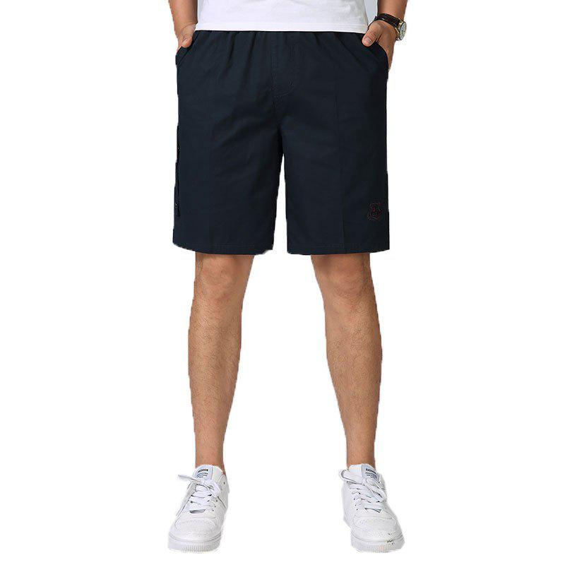 Discount Men Casual Plus Size Shorts Mid Waist Brief Design Solid Color Shorts