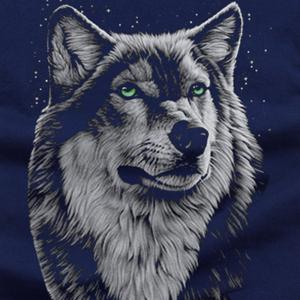 Summer New 3D Wolf Head Men's  Short Sleeve T-Shirt -