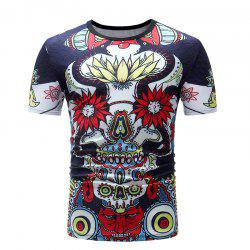 Men Print Casual Short Sleeve T-shirt -