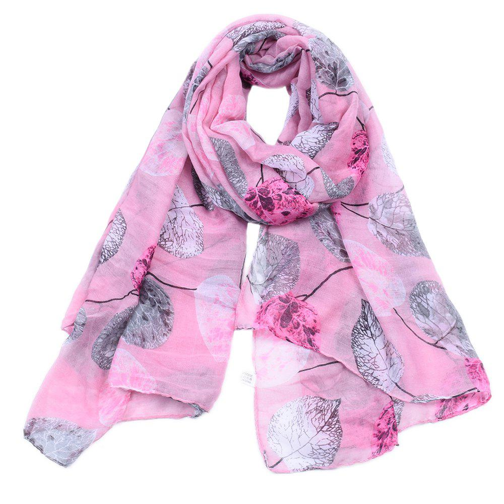 New Women Popular Leaf Printed Stain Scarves and Shawls Oversized