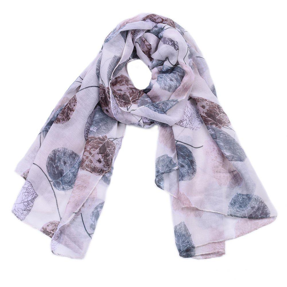 Shops Women Popular Leaf Printed Stain Scarves and Shawls Oversized