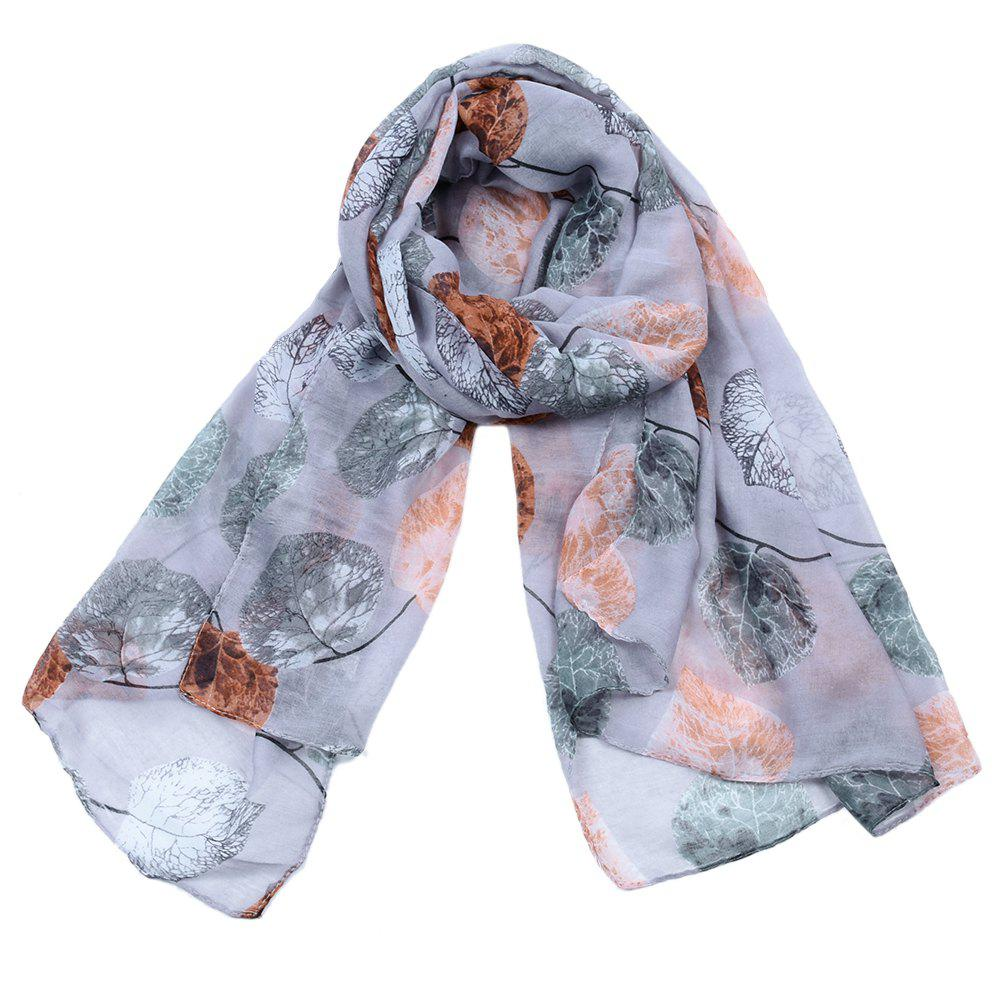 Outfit Women Popular Leaf Printed Stain Scarves and Shawls Oversized