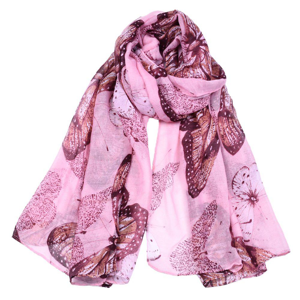 Buy Women Popular Rose Printed Stain Scarves and Shawls Oversized