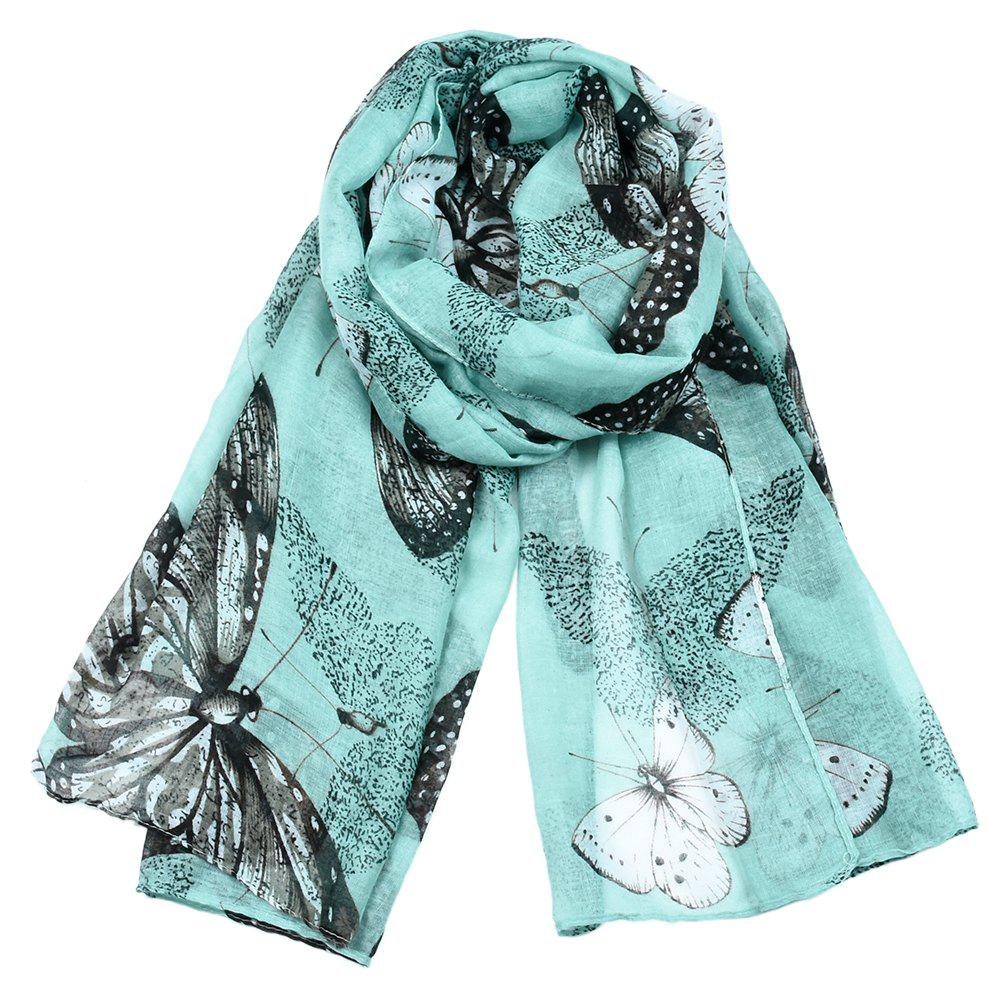 Chic Women Popular Rose Printed Stain Scarves and Shawls Oversized
