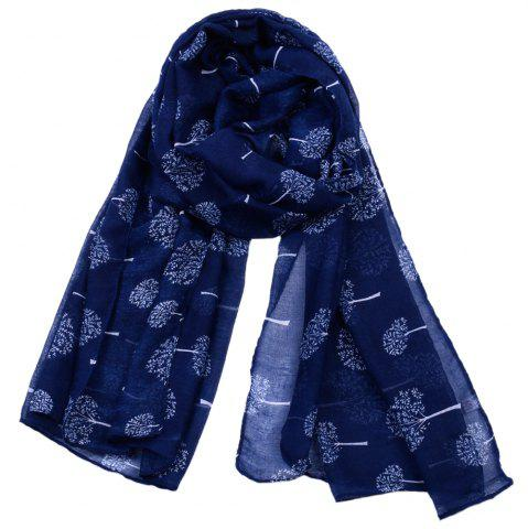 Store Women Popular Tree Forest Printed Stain Scarves and Shawls Oversized