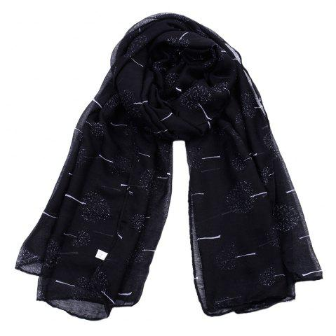 Shop Women Popular Tree Forest Printed Stain Scarves and Shawls Oversized