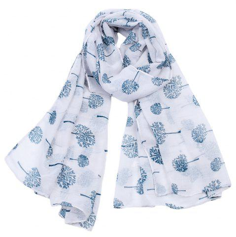 Outfits Women Popular Tree Forest Printed Stain Scarves and Shawls Oversized