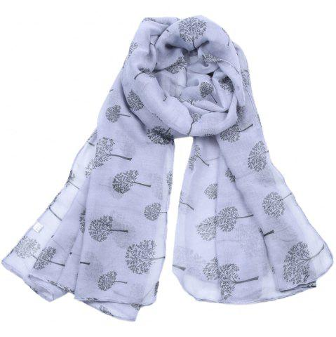 New Women Popular Tree Forest Printed Stain Scarves and Shawls Oversized