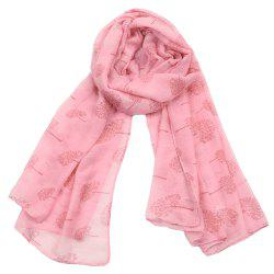 Women Popular Tree Forest Printed Stain Scarves and Shawls Oversized -