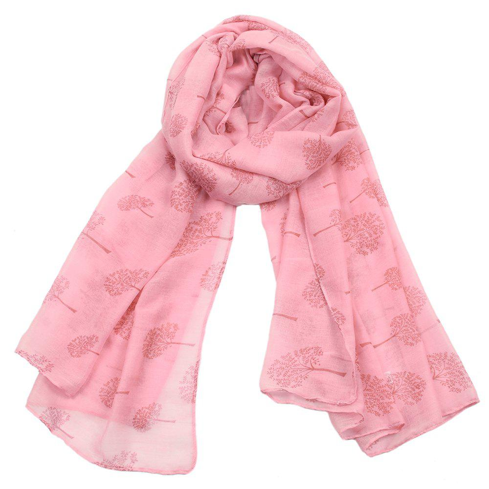 Latest Women Popular Tree Forest Printed Stain Scarves and Shawls Oversized