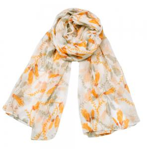 Women Popular Tulip Floral Printed Circle Infinity Scarf -