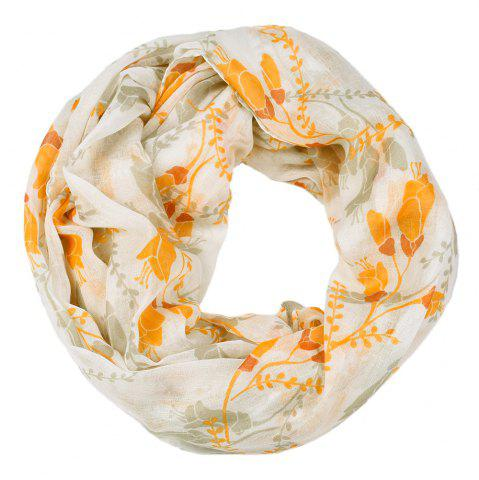 New Women Popular Tulip Floral Printed Circle Infinity Scarf