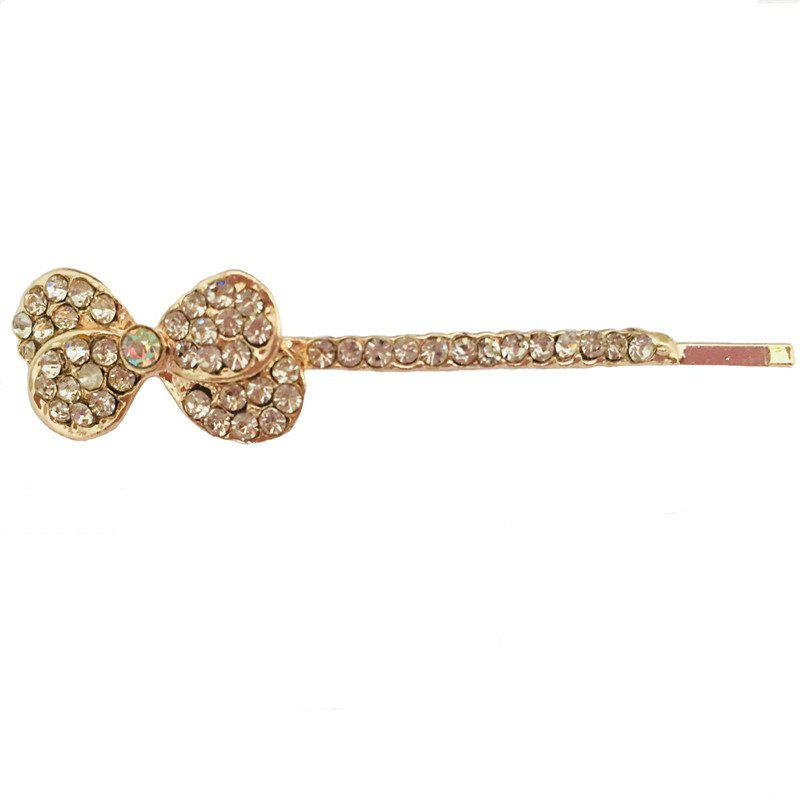 New New Simple and Stylish Personalized Diamond Double Bow Hair Clip