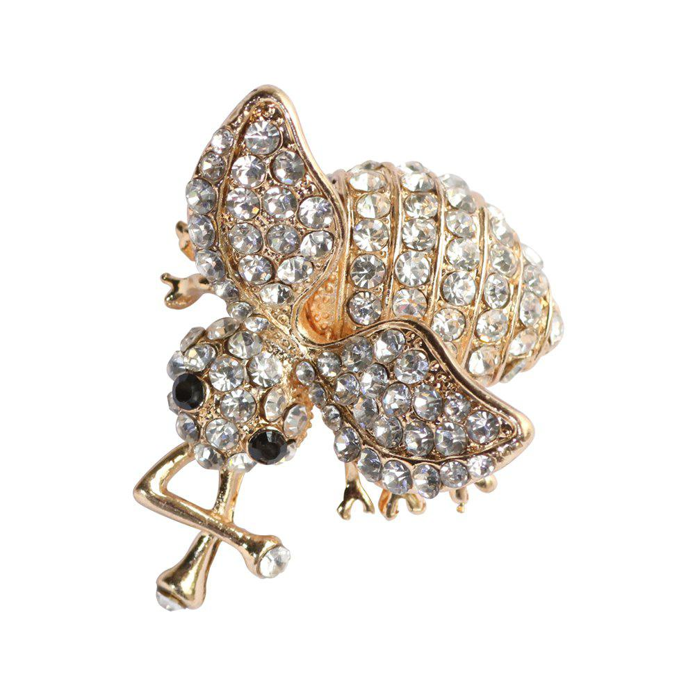Chic Unisex Shiny Rhinestone Metal Bee Brooch Fashion Jewelry Accessories