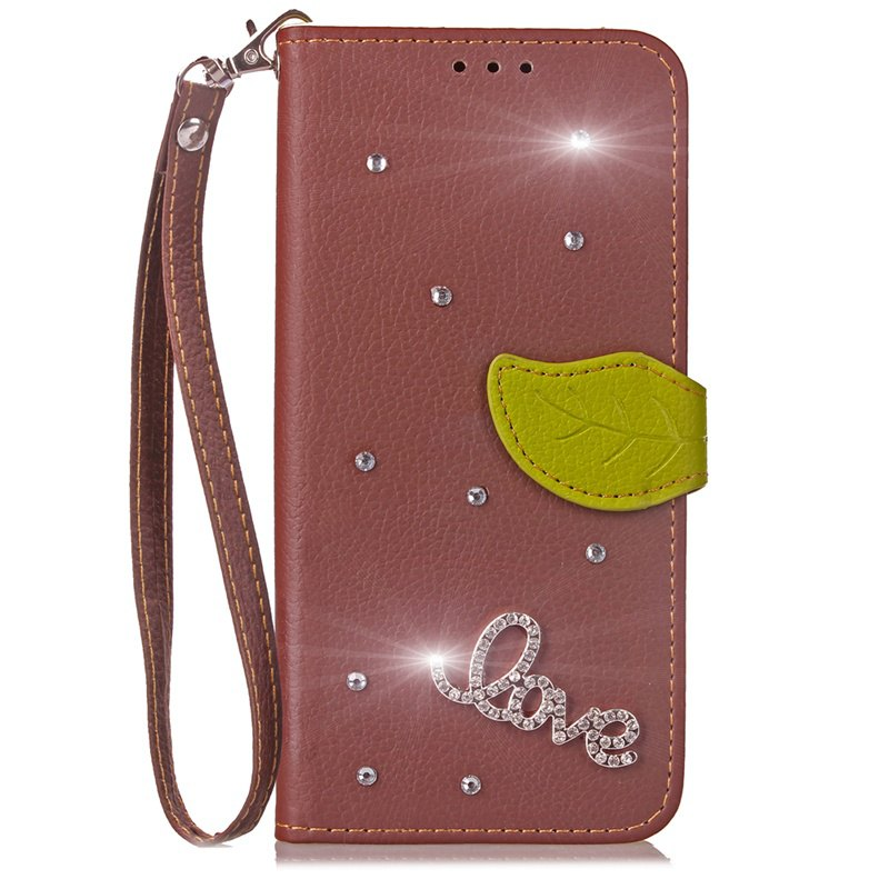 Love Leaf Stick Drill Card Longe en cuir PU pour Cubot RAINBOW 2