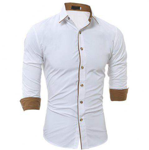 Unique New Classic Color Personality Striped Men's Casual Slim Long-Sleeved Shirt