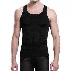 Men's Body Shaper Slimming Shirt Tummy Waist Vest -