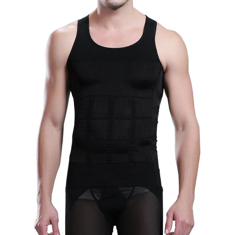 Affordable Men's Body Shaper Slimming Shirt Tummy Waist Vest