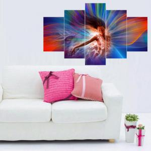 High Definition Beautiful Girl Art Frameless Decorative Oil Painting 5PCS -