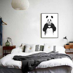 Creative American Style Fresh Panda Adornment Oil Painting -