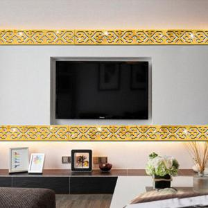 Mirror Wall Stickers Waist Line Decor Ceiling Decoration -