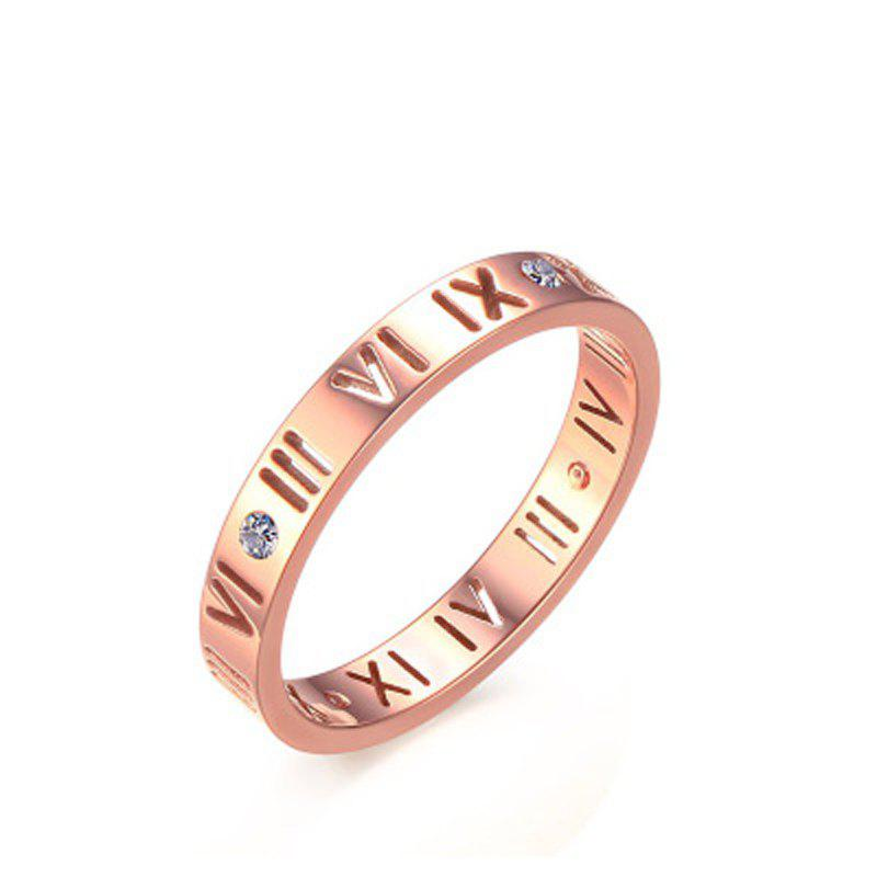 Trendy Fashion Delicate Roman Numerals Rings for Women and Men Couple Wedding Rings