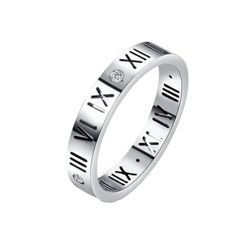Outfit Fashion Delicate Roman Numerals Rings for Women and Men Couple Wedding Rings