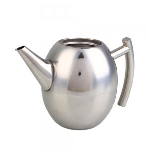 1L Stainless Steel Kettle Teapot Coffee Pot Filter Strainer Home Barware -