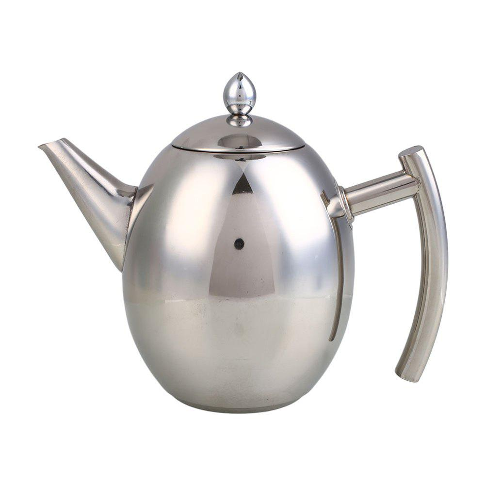 1L Stainless Steel Kettle Teapot Coffee Pot Filter Strainer Home Barware