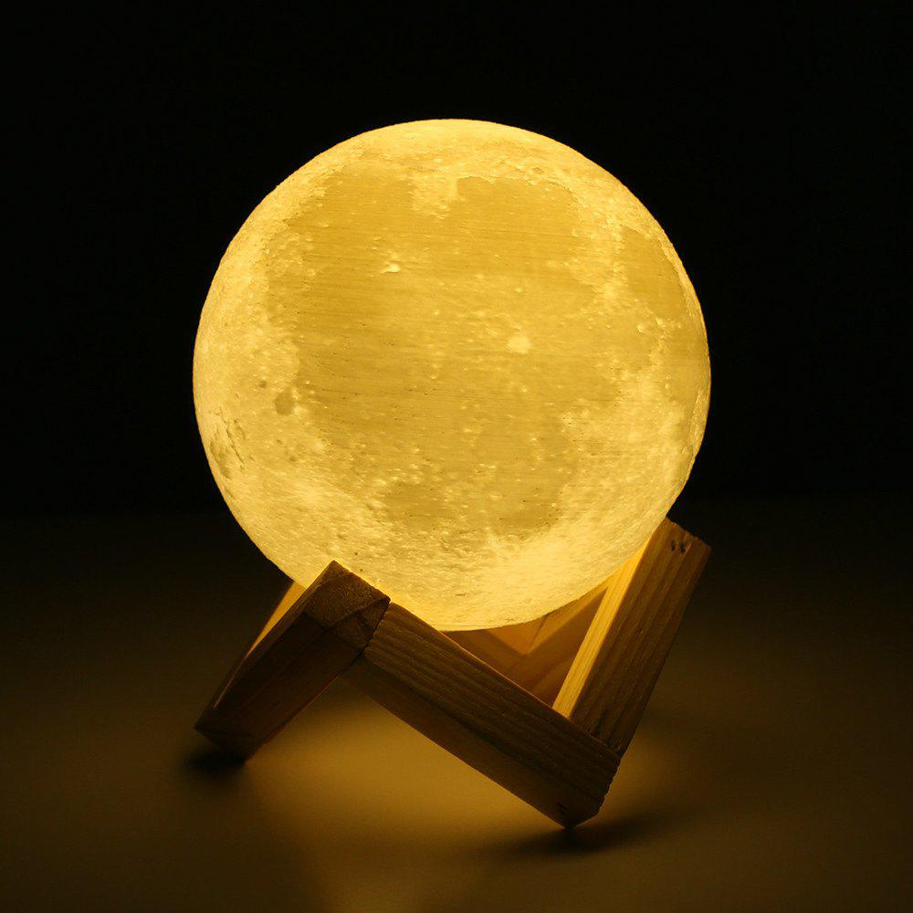Latest Touch Three-Color 3D Bedside Creative Led Luminous Moon Lamp