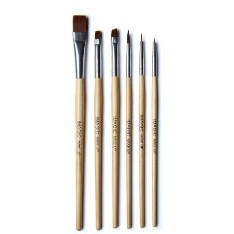 Buy IMAGIC Wood Painted Nail Brush 6 PCS