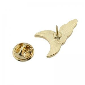 Gold-color Brooches White Cloud Enamel Pattern -