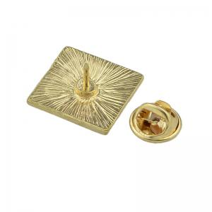 Enamel Square Brooch with Colorful Flower Pattern -