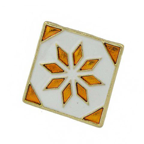 Fashion Enamel Square Brooch with Colorful Flower Pattern