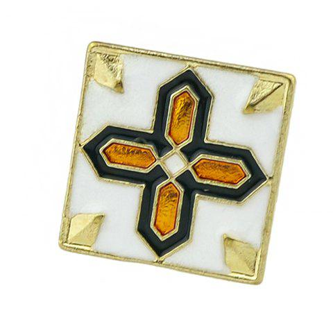 Latest Square Brooch with Cross and Flower Pattern