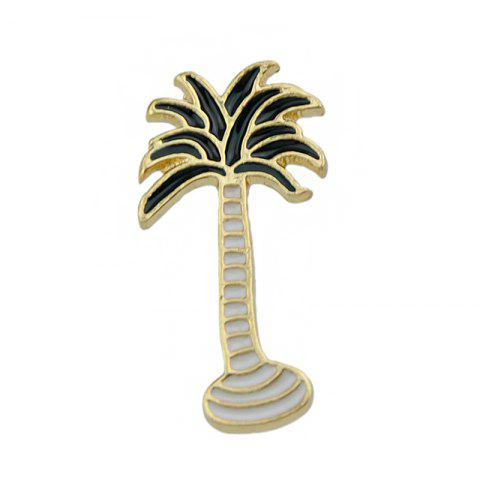 Online Black White Color Enamel Coconut Tree Pattern Brooches