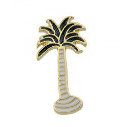 Black White Color Enamel Coconut Tree Pattern Brooches -