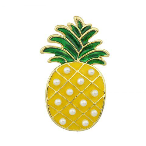 Best Gold-color with Green Yellow Enamel Pineapple Brooch